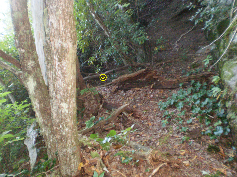 Rock Climbing Photo: After the previous turn left up the hill, walk a v...
