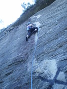 Rock Climbing Photo: Mary redpointing X70.