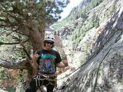 Rock Climbing Photo: Psyched at the start of p2.