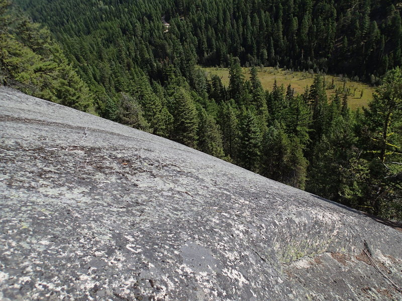 "Rock Climbing Photo: View down The Shield with Goodrich ""lake&quot..."