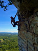 Rock Climbing Photo: Cruised the crux on a nice cool August afternoon :...