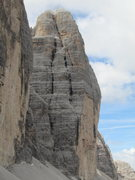 Rock Climbing Photo: The route follows a general line left of the arêt...