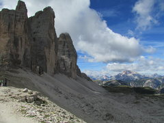"""Rock Climbing Photo: This is the """"Classic"""" view of the Tre Ci..."""