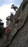Rock Climbing Photo: This is where I like to start.  It is left of the ...