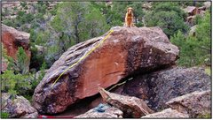 Rock Climbing Photo: Chip's first V3. Problem beta for Hearts of Milk a...
