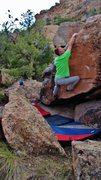 Rock Climbing Photo: Relief! About to match hands on the jug, from ther...