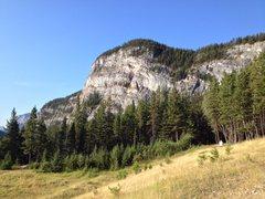 Rock Climbing Photo: Tunnel Mountain East Face. Ballista climbs just to...