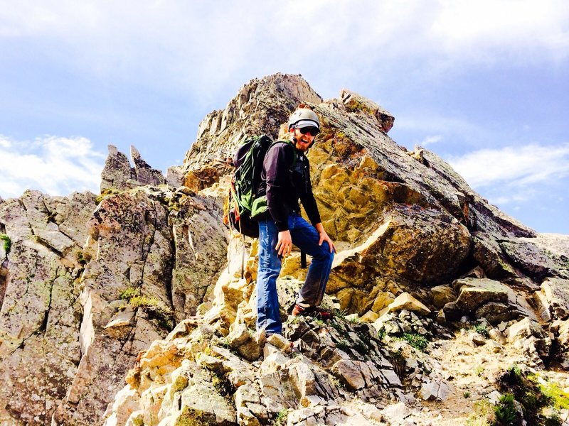 Rock Climbing Photo: The ridge line of Capitol Peak. A wee bit of mount...