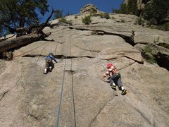 Rock Climbing Photo: Are there two Sunshine Slabs?  We tried the route ...