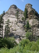 Rock Climbing Photo: Here's a zoomed out view of the far-right easy sla...