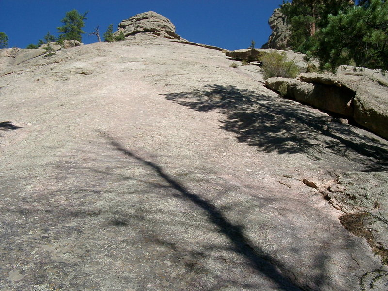 Rock Climbing Photo: This is what I would call Sunshine Slab.  It's lon...