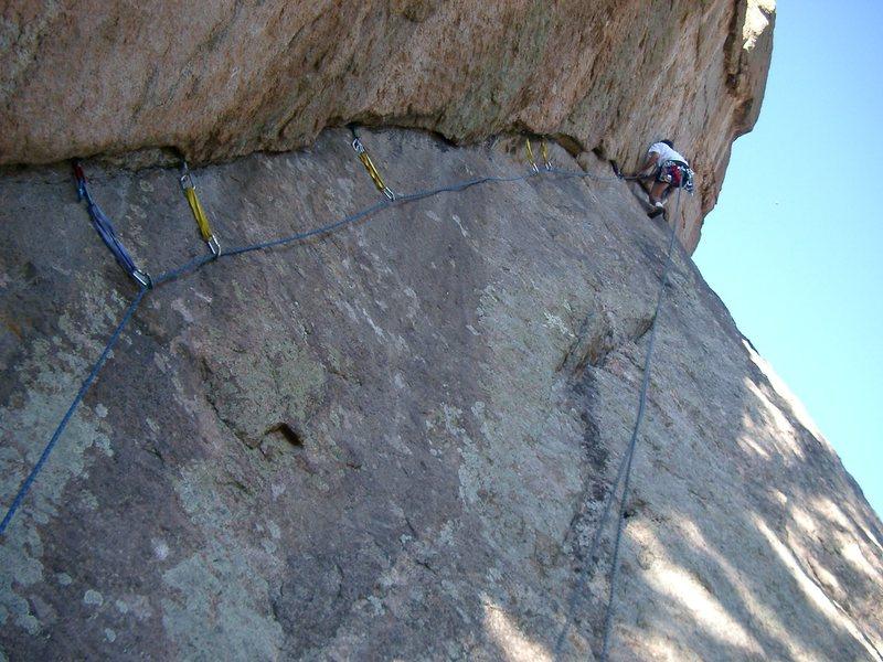 Rock Climbing Photo: Sewing it up.