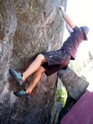 Rock Climbing Photo: Small crimps at hand, just a couple more move to t...