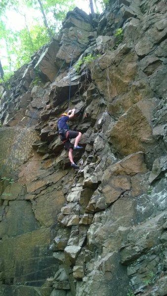Rock Climbing Photo: Brad top roping Jengaistic