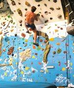 Rock Climbing Photo: August on backyard wall