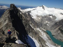 Rock Climbing Photo: Ascending the West Ridge. Early on in the route.