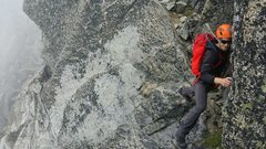 "Rock Climbing Photo: Making the ""Air Step"""