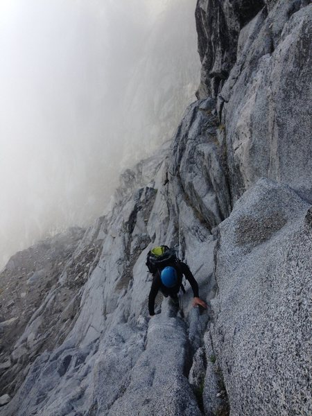 Rock Climbing Photo: Headed towards Long John Tower