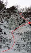 Rock Climbing Photo: Bratten i Gjølet at thin early-season-conditions....