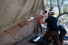 Rock Climbing Photo: bouldering silk banana
