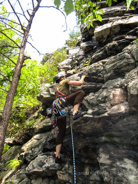 """Rock Climbing Photo: Brendan Cathcart at the start for """"House of S..."""
