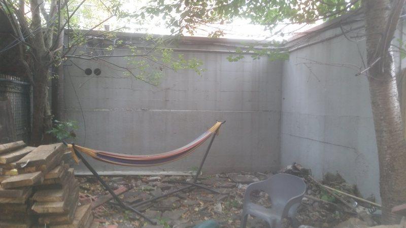 Backyard wall