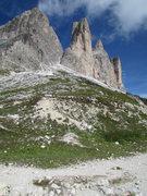"""Rock Climbing Photo: Cima Piccola di Laverado and """"Gelbe Kante.&qu..."""