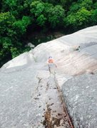 Rock Climbing Photo: Spencer Hastings pulling the P7 crux