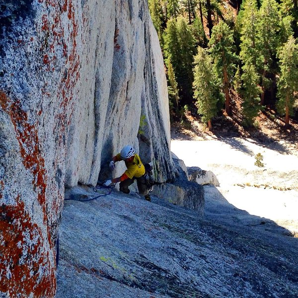 Rock Climbing Photo: The corner of pitch four has the cleanest rock on ...
