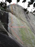 Picture of the route and Topo