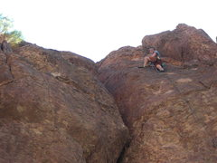Rock Climbing Photo: At ringers at top of route after lead