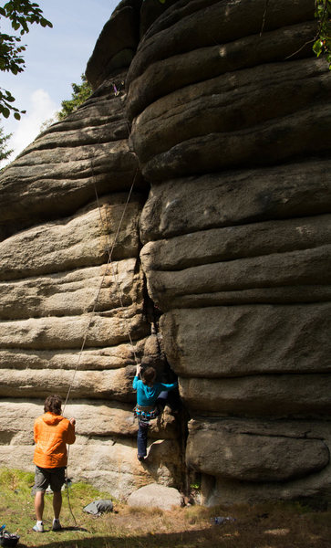 Rock Climbing Photo: Schallmauer - Riss