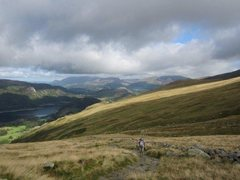 Rock Climbing Photo: The approach path . Skiddaw Mt in the background.