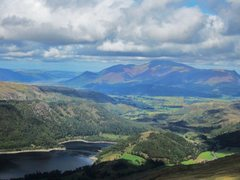 Rock Climbing Photo: View on the descent towards Skiddaw Mt above the t...