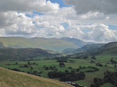 Rock Climbing Photo: Helwellyn Mt on center skyline from Latrigg Hill a...