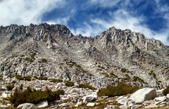 Rock Climbing Photo: NW to Ruby Peak and its W ridge