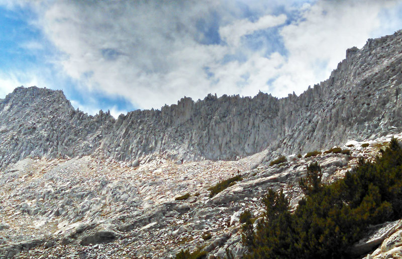Rock Climbing Photo: SW to ridge between Mt Mills + Ruby Peak