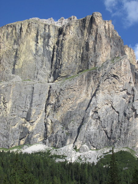 Rock Climbing Photo: Piz Ciavazes, Right side; home of Schubert, via Ir...