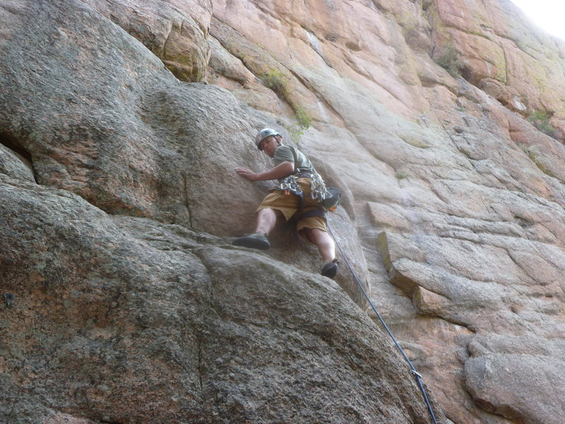 Rock Climbing Photo: Above the difficulties at the start.