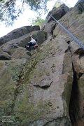 Rock Climbing Photo: Dunbar at the crux