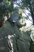Rock Climbing Photo: Dunbar at the finger crack