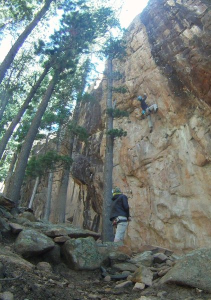 Ddong Chim at Staunton's Tan Corridor, one of the better routes at the area.