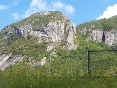 Rock Climbing Photo: Taken from the path from the Tramway parking lot t...