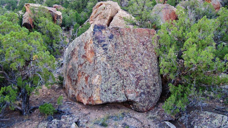 Harmonic boulder's west and south faces.