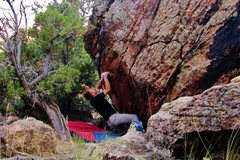 Rock Climbing Photo: Pulling on the small start hold crimp. Then hit th...