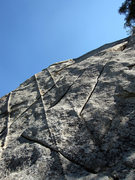 Rock Climbing Photo: Start of Ginseng.  It goes up the middle crack, al...