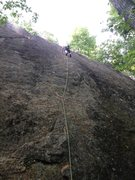 Rock Climbing Photo: A bolt Too Far 5.9+