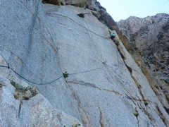 Rock Climbing Photo: Leading P3 of PSOM Pinnacle.  30 Aug 2014.