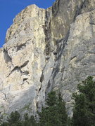 Rock Climbing Photo: Alcove in middle of the Ciavazes face, and Rossi-T...