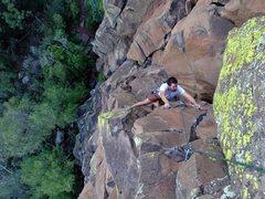Rock Climbing Photo: Nick nearing the top